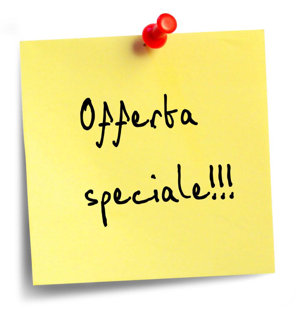 prezzi speciali